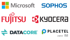 Partner: Microsoft, Sophos, Kyocera, DataCore, Fujitsu, Placetel